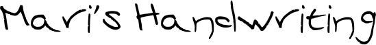 Mari's Handwriting Font