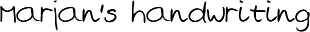 Marjan's handwriting Font