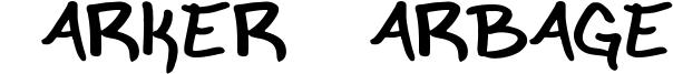 Marker Garbage Font
