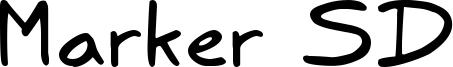 Marker SD Font