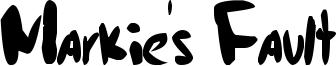 Markie's Fault Font