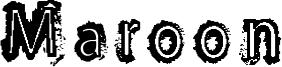 Maroon Font