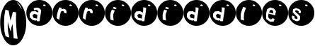 Marrididdles Font