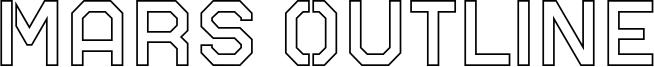 Mars Outline Font
