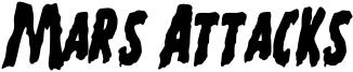 Mars Attacks Font