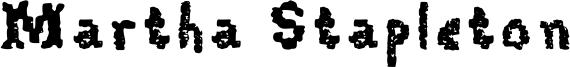 Martha Stapleton Font