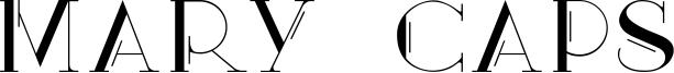 Mary Caps Font