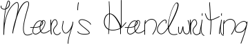 Mary's Handwriting Font