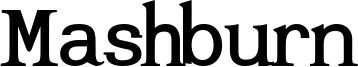 Mashburn Font