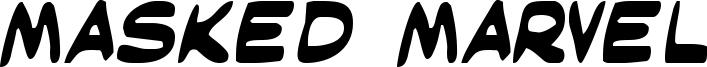 Masked Marvel Font
