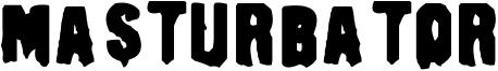 Masturbator Font