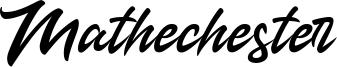 Mathechester Font