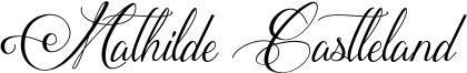 Mathilde Castleland Font