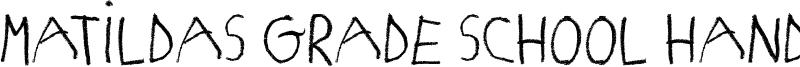 Matildas Grade School Hand Font