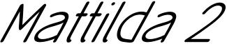 Mattilda 2 Font