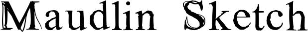 Maudlin Sketch Font