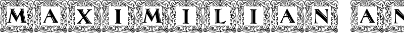 Maximilian Antiqua Initialen Font