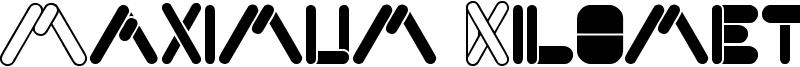 Maximum Kilometer Font