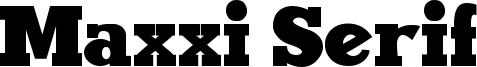 Maxxi Serif Font