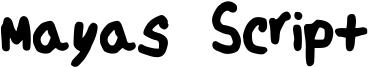 Mayas Script Font