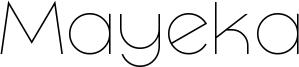Mayeka Font