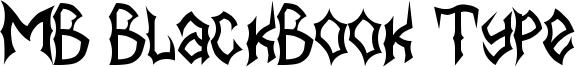 MB BlackBook Type Font