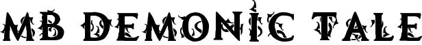 MB Demonic Tale Font