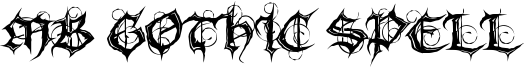 MB Gothic Spell Font