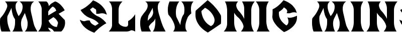 MB Slavonic Minsk Font