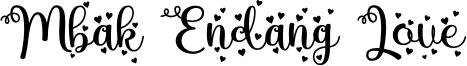 Mbak Endang Love Font