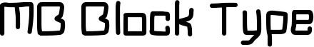 MB Block Type Font