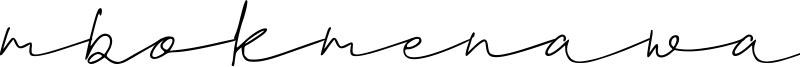 Mbokmenawa Font