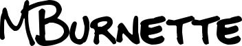 MBurnette Font