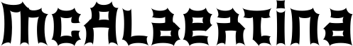 McAlbertina Font