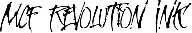 MCF Revolution Ink Font