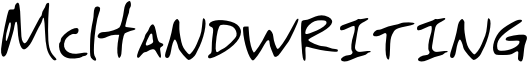 McHandwriting Font