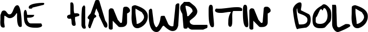 Me Handwritin Bold Font