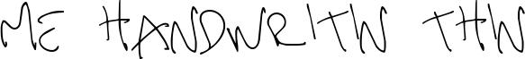 Me Handwritin Thin Font