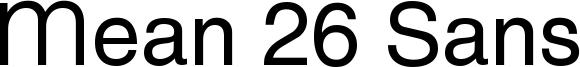 Mean 26 Sans Font