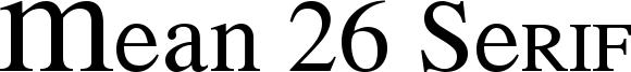 Mean 26 Serif Font
