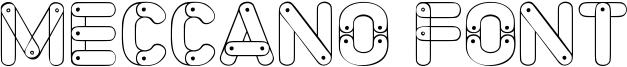 Meccano Font Font