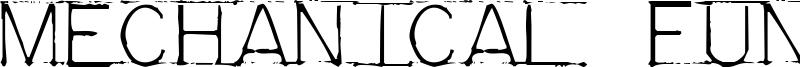 Mechanical Fun Font