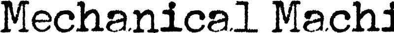 Mechanical Machine Font