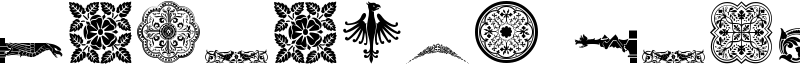 Medieval Dingbats Font