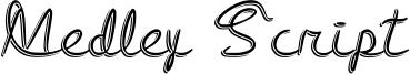Medley Script Font