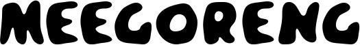 Meegoreng Font