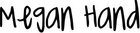 Megan Hand Font