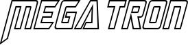 Megatron Hollow Condensed Italic.otf