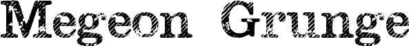 Megeon Grunge Font