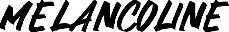 Melancoline Font